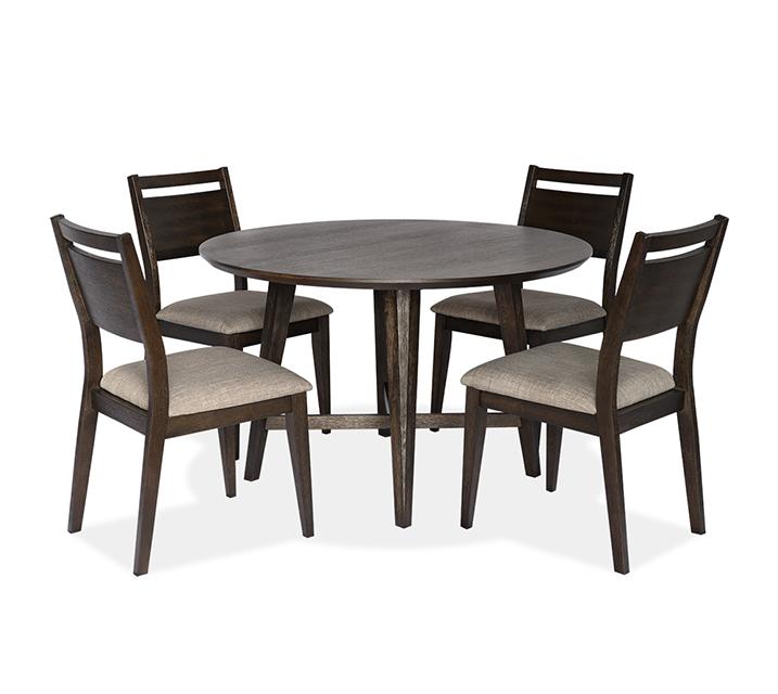 1173 라운드 4인 식탁세트 [테이블+의자 4개] - 브라운 / 월 79,800원