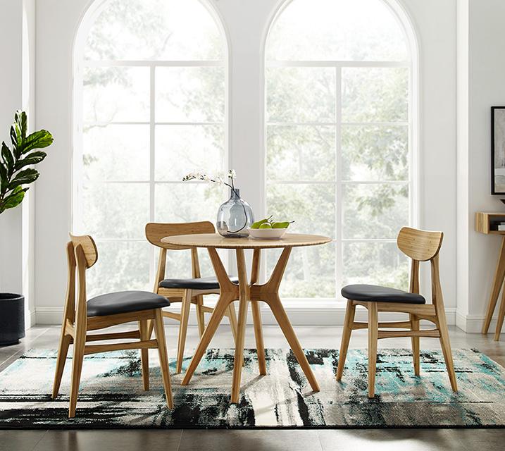 시카 & 카시아 컬렉션 대나무 2인 엔틱 식탁 세트 [ 테이블 + 의자 2개 ] / 월 103,800원