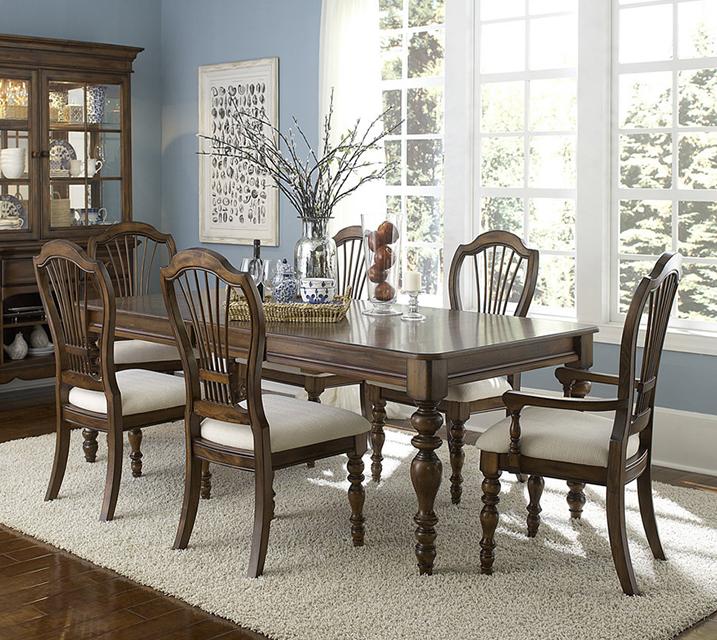 4860 파인 아이스랜드 컬렉션 6인 엔틱 식탁 세 [ 테이블 + 암체어 2개 + 사이드체어 4개 ] / 월 137,800원