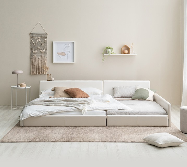 데이지 패밀리 침대 [화이트] SS+SS+PVC 깔판 / 월 43,800원