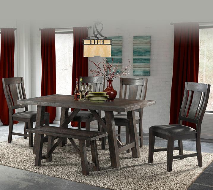 DCS100 캐쉬 컬렉션 6인 엔틱 식탁 세트 [테이블+벤치+의자 4개] / 월 79,800원