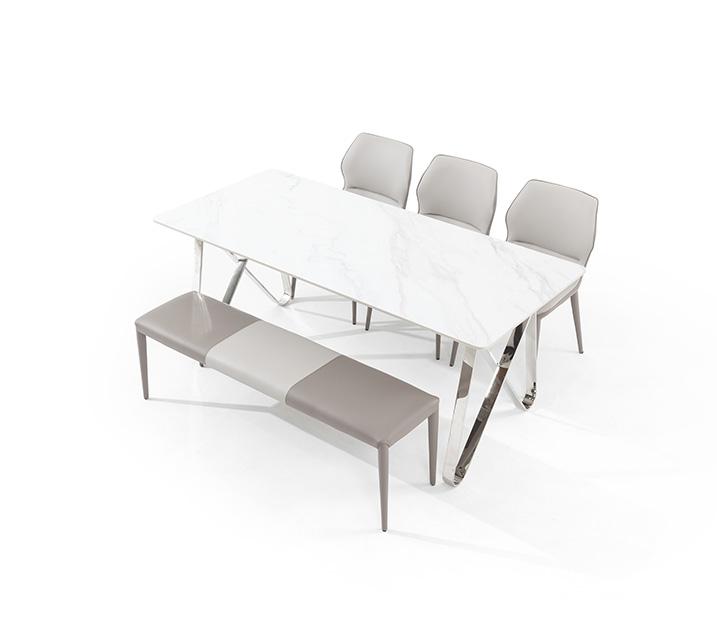 [L] 루멘 세라믹 6인 식탁세트 (의자3ea, 벤치1ea) / 월 75,800원