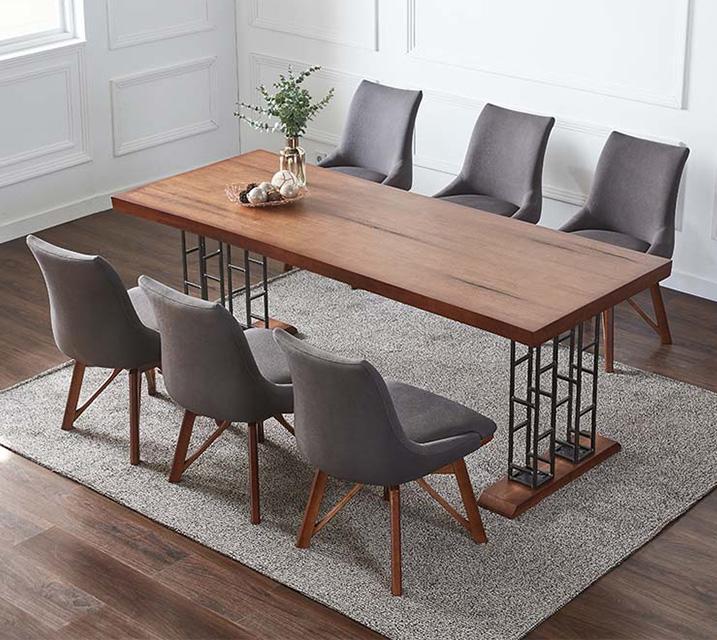 포포 6인용 원목 의자형 식탁세트(식탁 1ea, 의자 6ea) / 월 99,800원