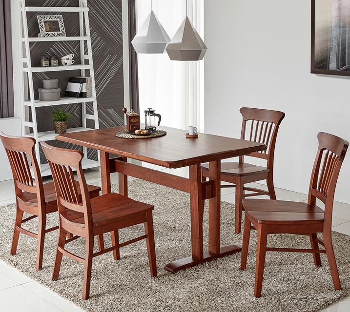 파벨 4인용 원목 의자형 식탁세트(식탁 1ea, 의자 4ea) / 월 59,800원